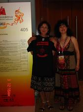 Prof. Ene Kangron, after presentation @ the Int'l Symposium, Beijing, 2010, showing her support for the message of Advocacy for Music Education from C.H.A.R.I.S.M.A. Foundation