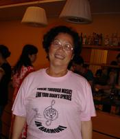 Yang Ruimin, Ministry of Education of China, supporting the cause of Advocacy for Music Education through Brain/Music Research, launched world-wide by C.H.A.R.I.S.M.A. Foundation, t-shirt is designed by R. Gutman
