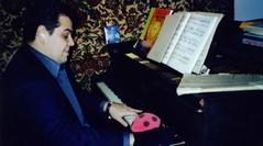 World-renowned pianist Arcadi Volodos at Ms. Rozalina Gutman Piano Studio during his USA concert tour