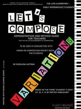 new composition textbook for beginners of young age with Demonstration and Method Guide for Teachers that have no or little experience in composition